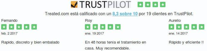opiniones y comentarios de los clientes acerca de sus experiencias con Treated España