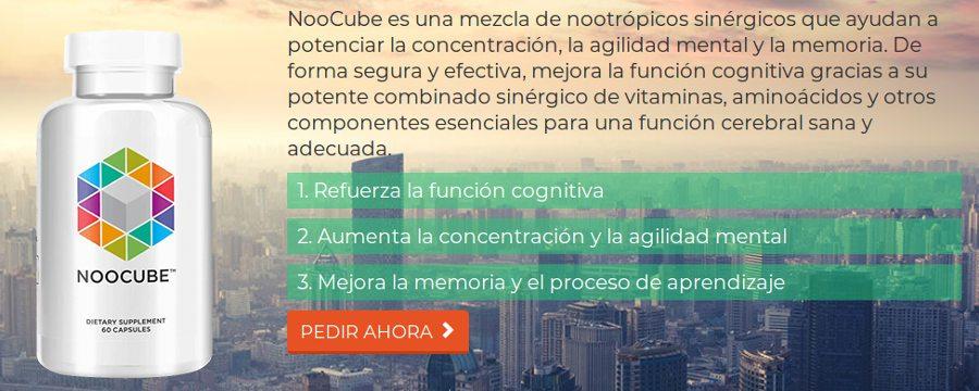 Noocube es mezcla de suplementos que ayudan a potenciar la concentración, la agilidad mental y la memoria