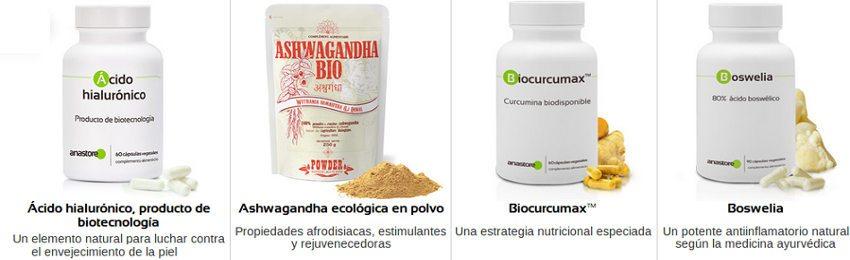Productos efectivos de Anastore y suplementos alimenticios hechos con ingredientes de alta calidad
