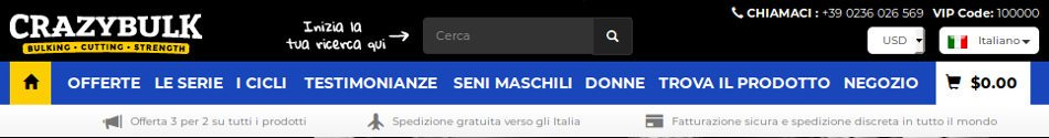 Crazybulk.it italy è il sito ufficiale per acquistare pillole crazybulk in italiano