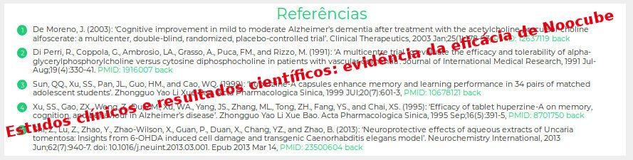 Estudos clínicos e resultados científicos: evidência da eficácia de Noocube