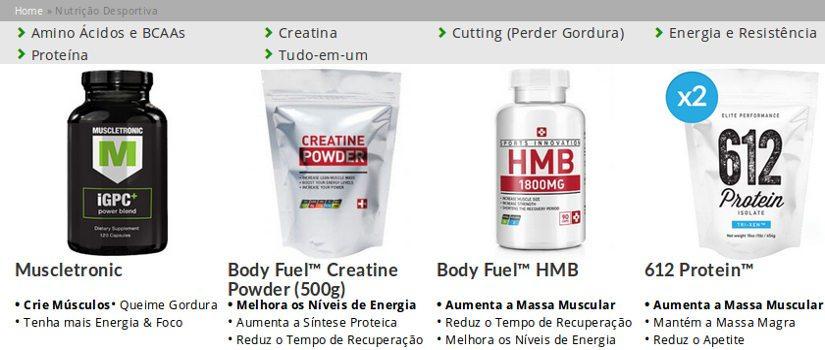 Suplementos alimentares de nutrição esportiva para aumentar sua energia física