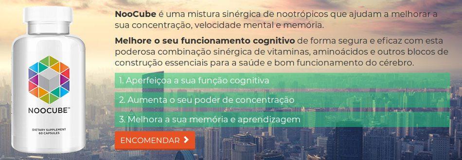 O suporte do noocube aprimora o foco e melhora a memória da velocidade mental