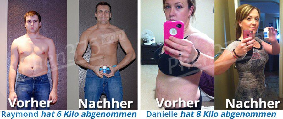Vorher / Nachher-Foto von Verbrauchern mit phen375: Zuverlässigkeit und Effizienz