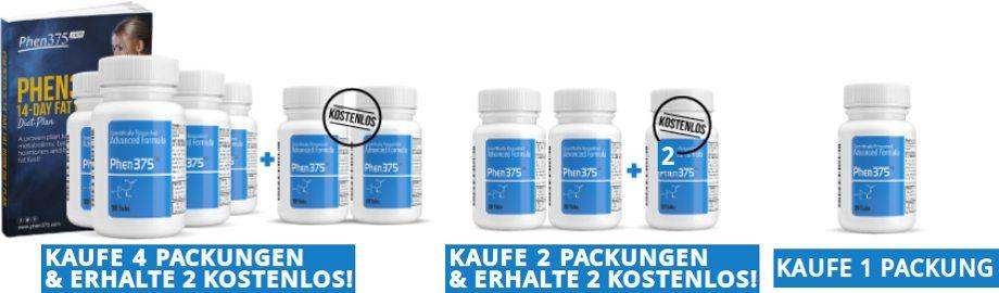 Elija el mejor paquete de precios de phen375 que se adapte a sus necesidades