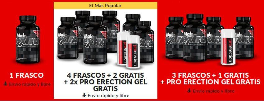 Diferentes paquetes para comprar en MaleExtra.es para españoles que viven en México o España