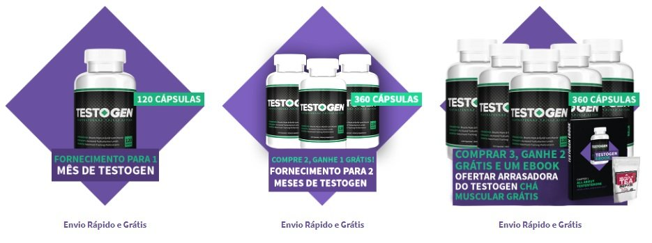 Pacotes diferentes para encomendar no site Testogen.pt