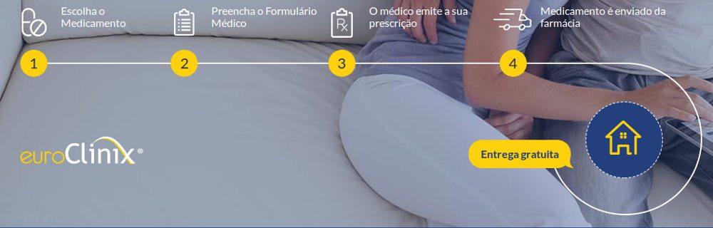 passos para encontrar o seu medicamento em euroclinix, encomende e receba em casa discretamente