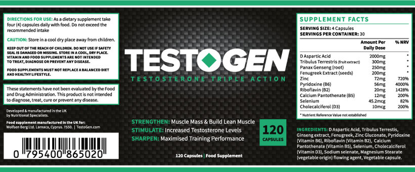 Testogen composition: all ingredients to increase your resistance and energy
