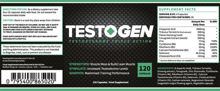 Composizione Testogen: tutti gli ingredienti per aumentare la resistenza e l'energia