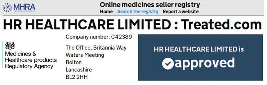 Rekisteri hyväksyi hyväksyttyjen lääkkeiden online-myyjien treated.com