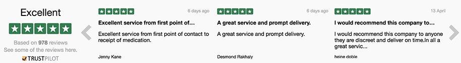 dokteronline får gode anmeldelser og feedback bedømt af kunder