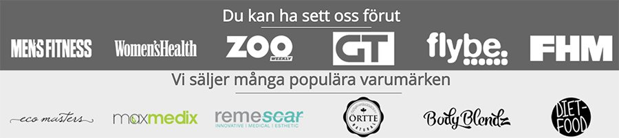 Hitta partner varumärkena i Weightworld butik för sverige
