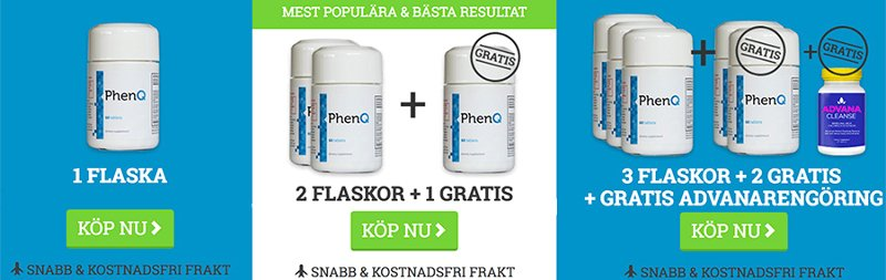 Så här beställer du på den officiella hemsidan Phenq.se för att få det bästa paketpriset