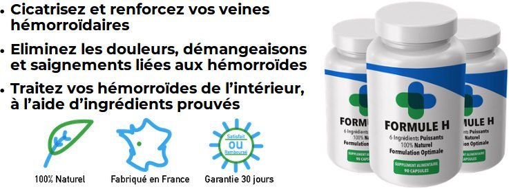 Formule H : traitement naturel anti-hémorroïdes efficace