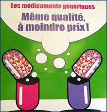 Publicité de l'assurance maladie sur le médicament générique